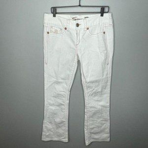 Seven7 White Boot Cut Jeans